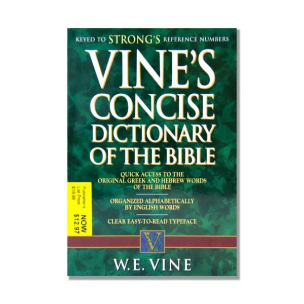 Vines Consice Dictionary of the Bible Bkst